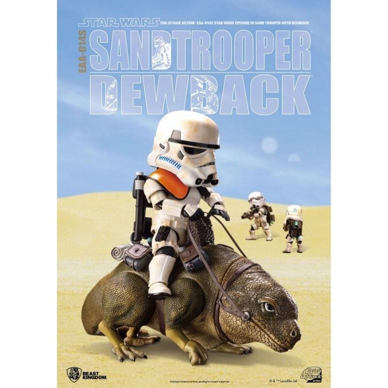 Star Wars - Figurines Sandtrooper & Dewback- Egg Attack