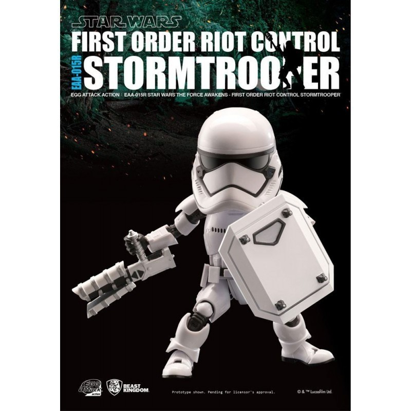 Star Wars - Figurine Riot Control Stormtrooper- Egg Attack