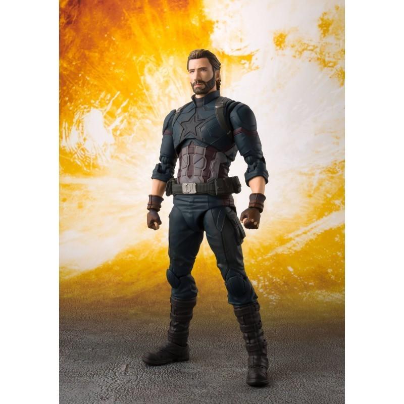 Marvel - Figurine Captain America S.H Figuarts - Avengers Infinity War