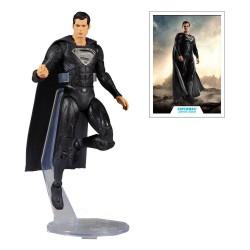 Figurine Superman (Black Suit) - DC Justice League Movie