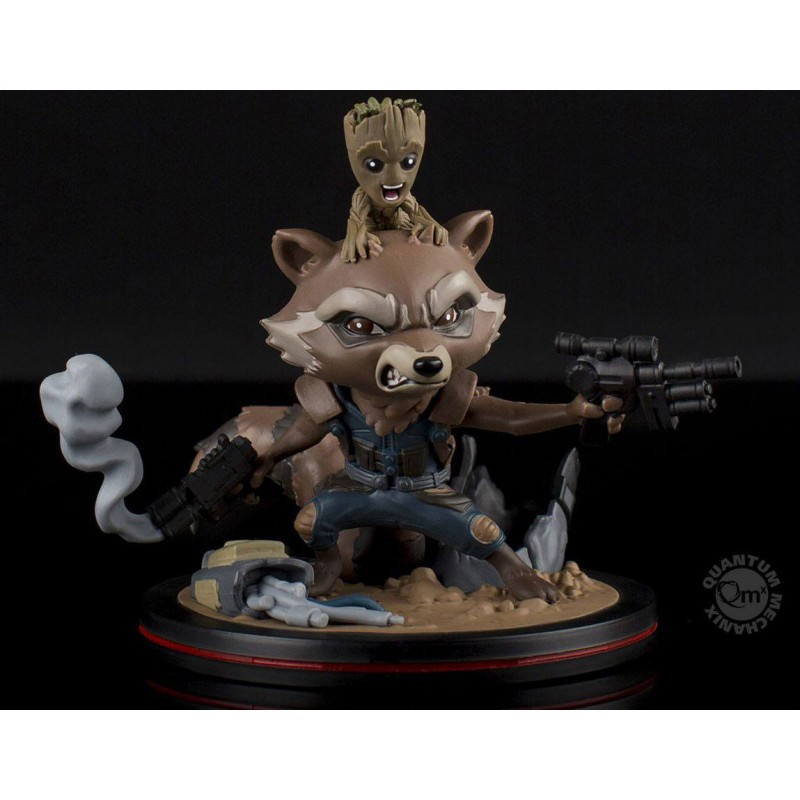 Marvel - Figurine Rocket & Groot Q-Fig - Les Gardiens la Galaxie vol.2