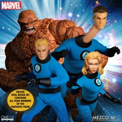 Set 4 figurines One:12 Collective Fantastic Four DLX Steel Box