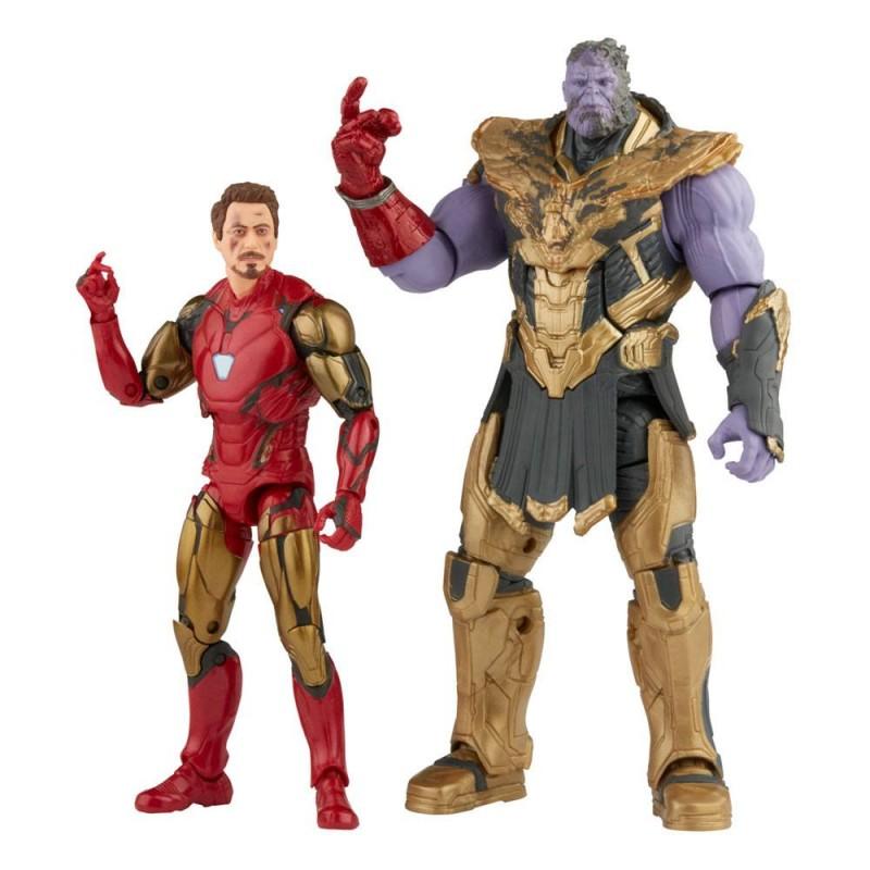 Pack 2 figurines Iron Man Mark LXXXV & Thanos  - Marvel Legends Series - The Infinity Saga