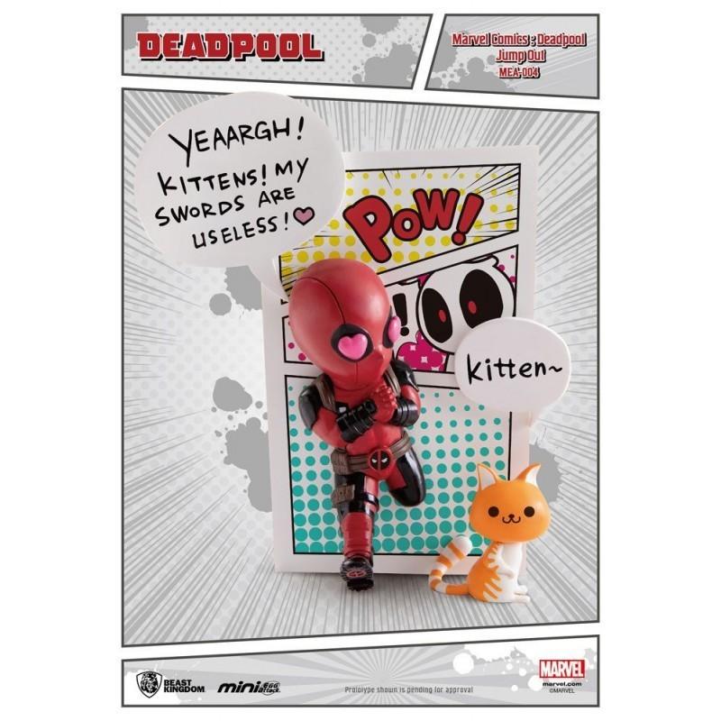 Marvel - Figurine Deadpool Jump Out 4th Wall Mini Egg Attack