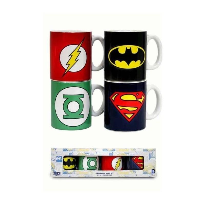 DC Comics - Set 4 tasses Espresso Justice League