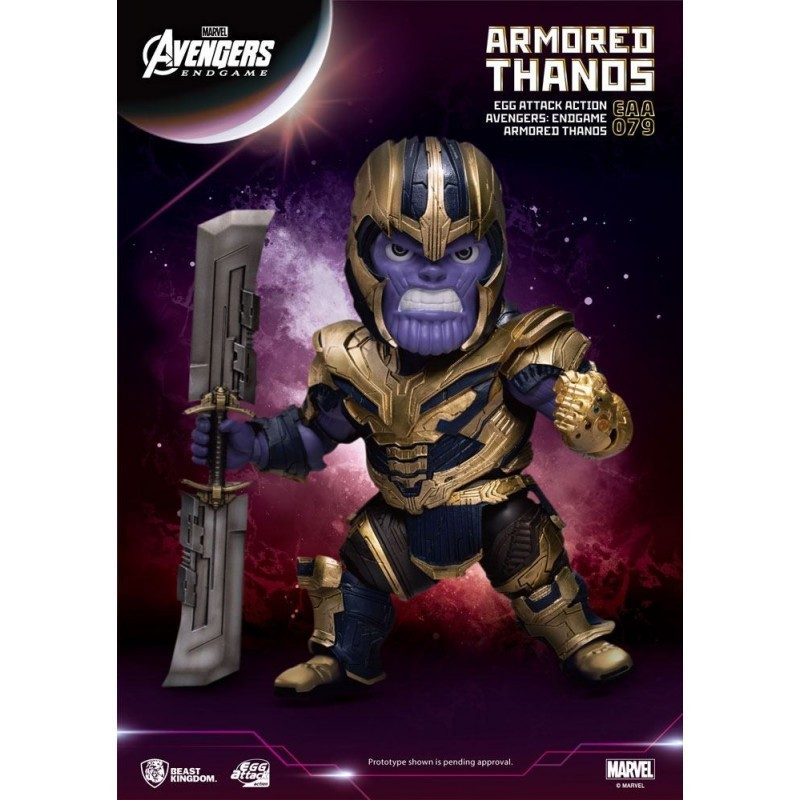 Avengers End Game - Figurine Armored Thanos - Egg Attack