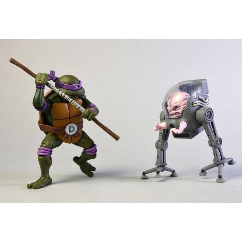 Tortues Ninja - Pack figurines Donatello Vs Krang - Classic Edition