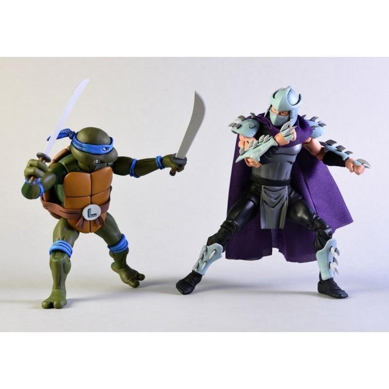 Tortues Ninja - Pack figurines Leonardo Vs Shredder - Classic Edition