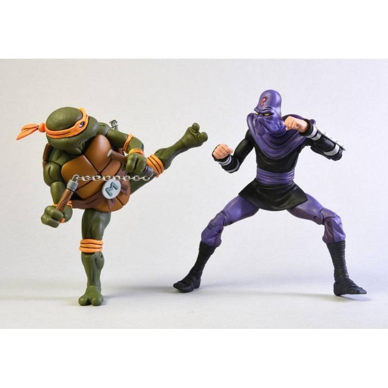Tortues Ninja - Pack figurines Michelangelo Vs Krang - Classic Edition