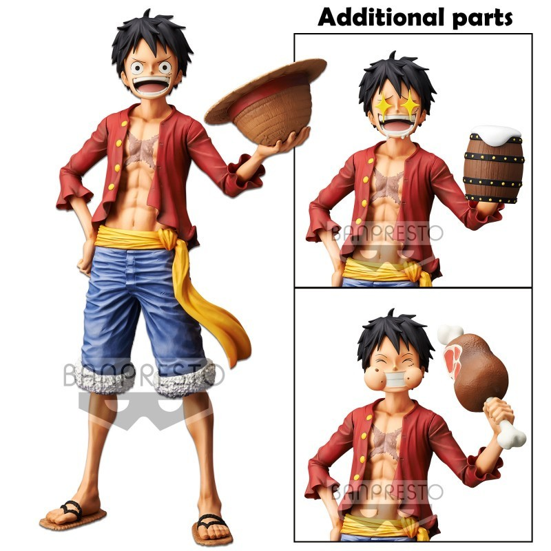Figurine Grandista Monkey. D. Luffy Nero - One Piece