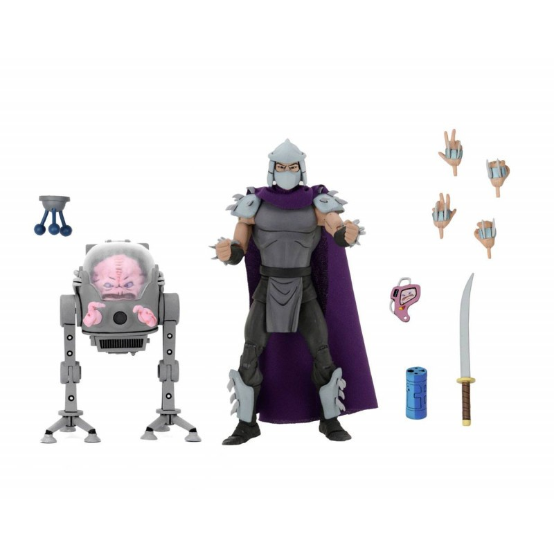 Tortues Ninja - Pack 2 figurines Shredder & Krang 18 cm