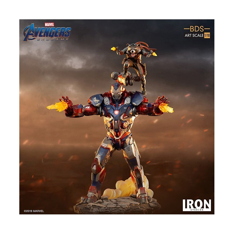 Statuette Iron Patriot & Groot BDS Art Scale - Avengers End Game - Iron Studios