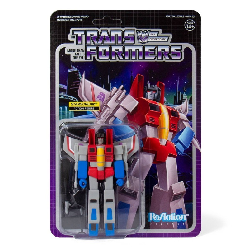 Transformers - Figurine Starscream vintage - Wave 1 ReAction