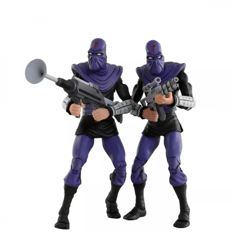 """Tortues Ninja - Pack 2 figurines Foot Soldier """"Army Builder"""" 18 cm"""