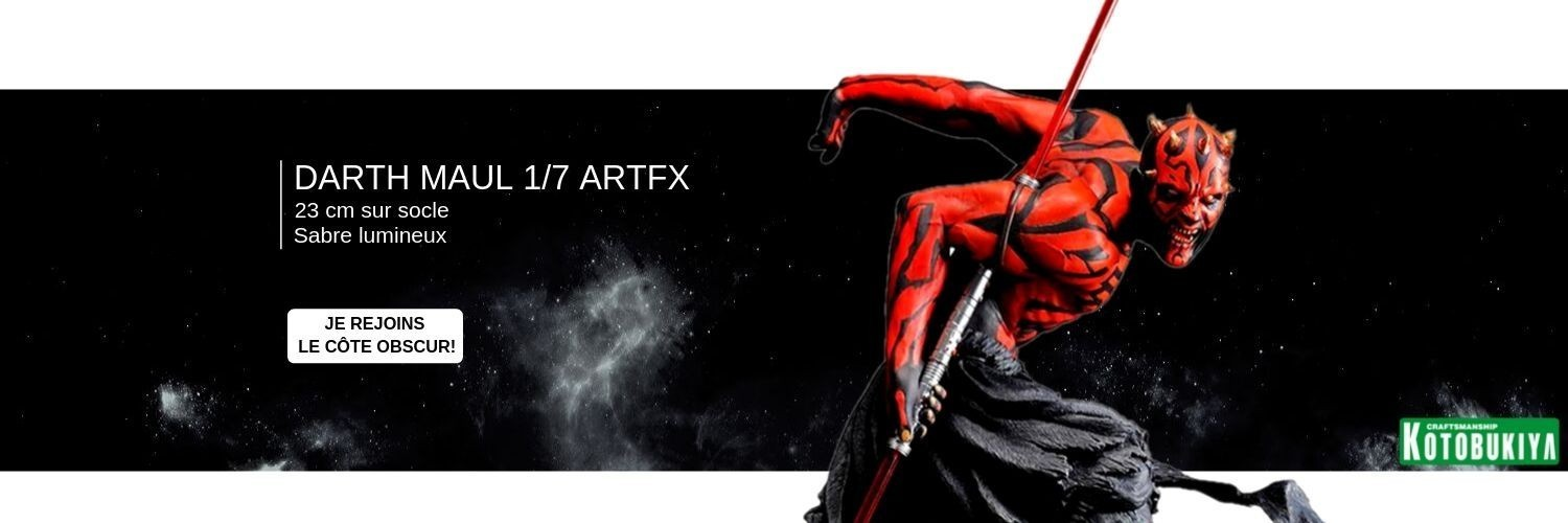 STATUETTE DARTH MAUL PVC ARTFX 17 DARTH MAUL JAPANESE UKIYO-E STYLE LIGHT-UP EDITION 28 CM